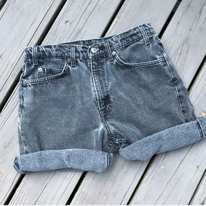Vintage Levi's 550 Faded Black Cuffed Denim Shorts